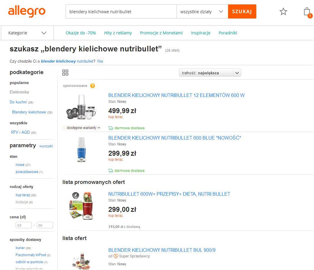 Allegro Ads wyniki wyszukiwania