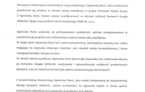 Referencje Ania Szabelska