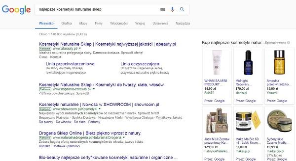 Kampanie reklamowe AdWords - linki sponsorowane Google