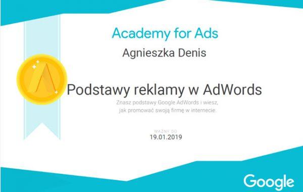 Certyfikat AdWords