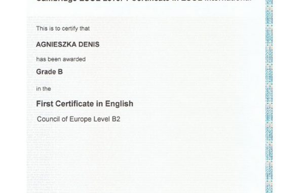 First Certificate in En